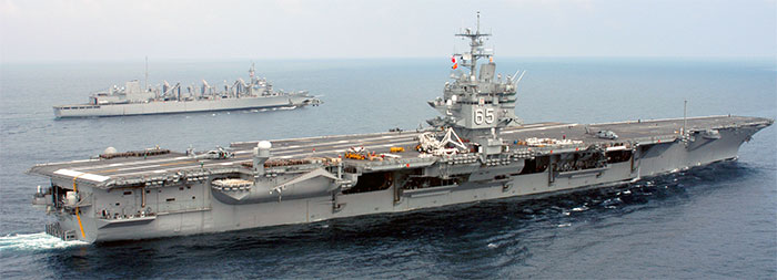 The real USS Enterprise aircraft carrier