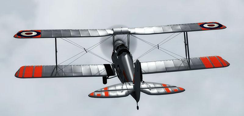 Red/silver Tiger Moth.