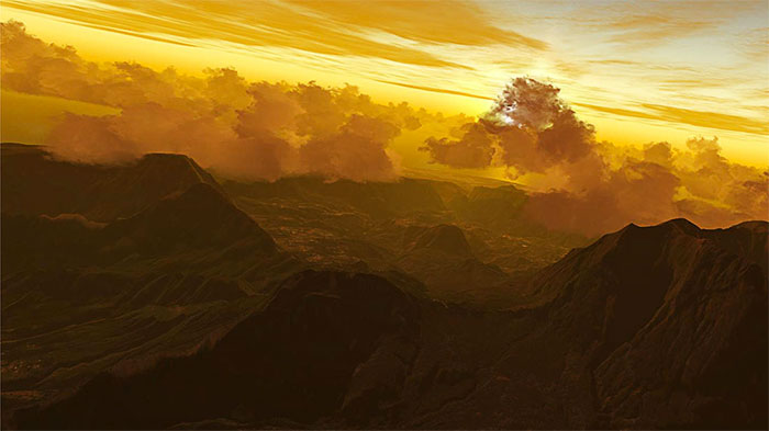 Sunset over Reunion