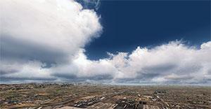 Screenshot using REX4 Texture Direct showing clouds