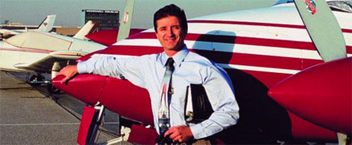 Rod Machado with airplane