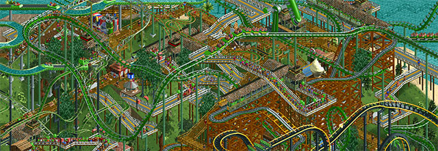 Screenshot from Rollercoaster Tycoon