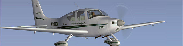 Mark Rooks' Cirrus SR22 in flight