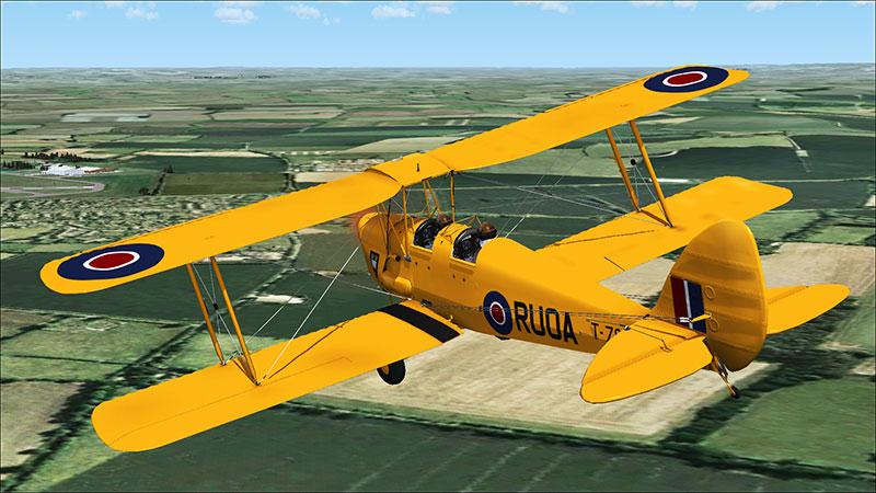 RUOA Tiger Moth in flight.