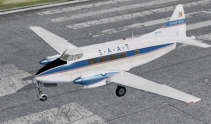 SAAT Dove on runway.