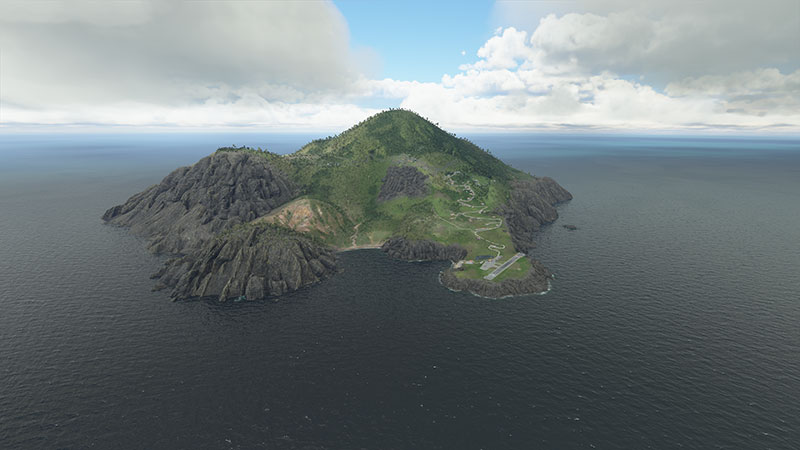 Saba island in FS2020.