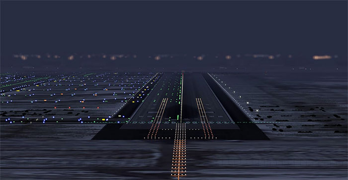 Runway at Salt Lake City airport.