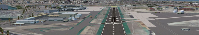 Runway at San Diego International Airport