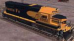 Santa Fe loco on track