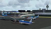 Terminal building at Schiphol.