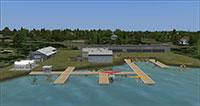 Orlando Seaplane base from above.