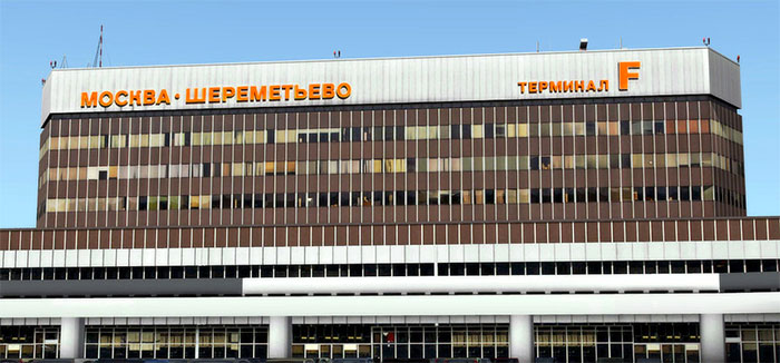 The terminal building at Sheremetyevo (F)