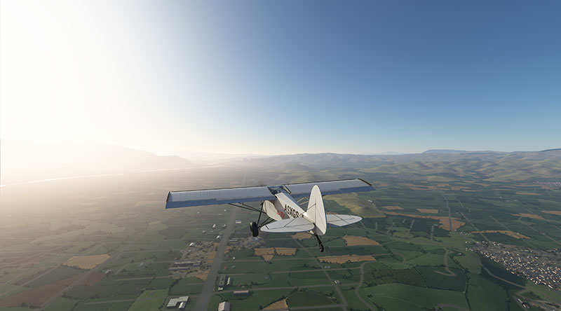 SHOCK Ultra flying over mountainous terrain in Greece.