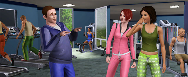 The Sims in Gym