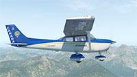 C172 Skyhawk midflight.