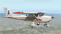 Skyhawk midflight.