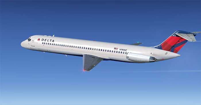 Sky Simulations DC-9 in flight