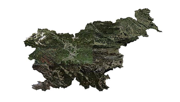 Slovenia coverage map.