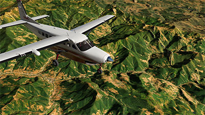 Screenshot using SpainUHD scenery in X-Plane 11.