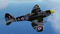 Spitfire being flow in FSX.