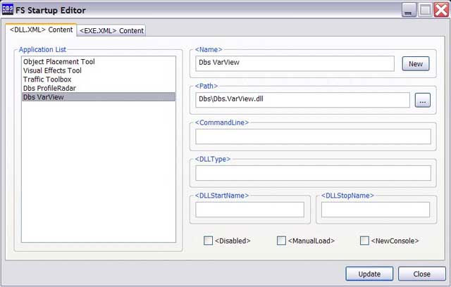 Startup editor screenshot