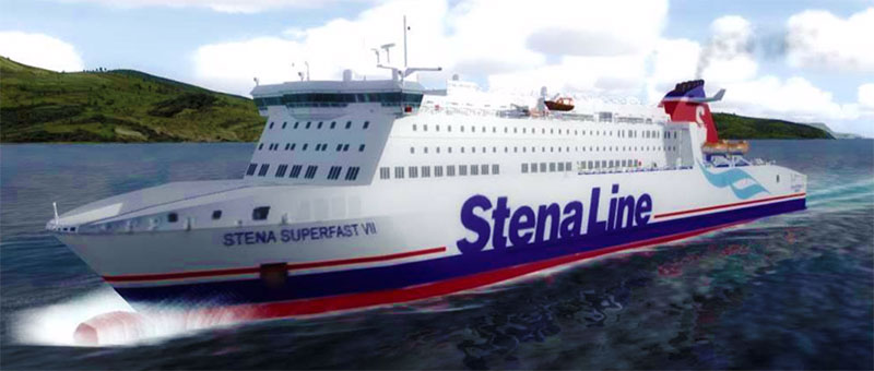 Stena Superfast VII can be found sailing between Belfast and Cairnryan