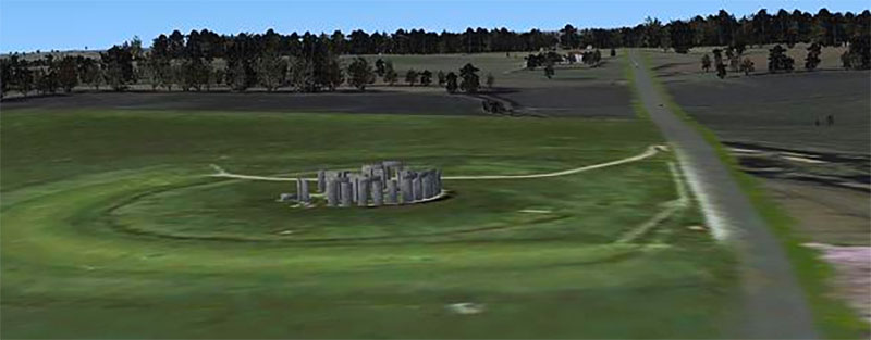 Stonehenge in FSX.