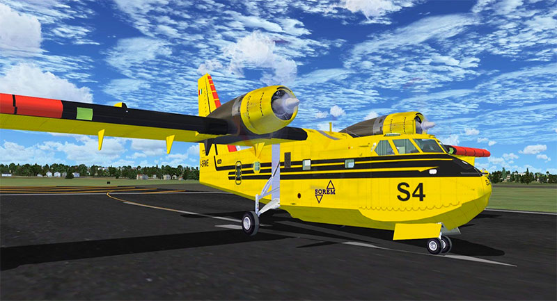 Canadair CL-215​ on runway.