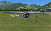 Flying out of LSTS in FSX.