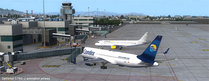 Terminal and jetways