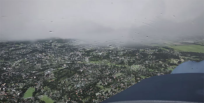 Image showing the new rain effects and ground terrain.