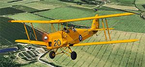 Tiger Moth being flown in P3Dv4.