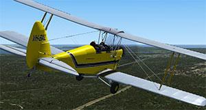The Tiger Moth in P3Dv4.