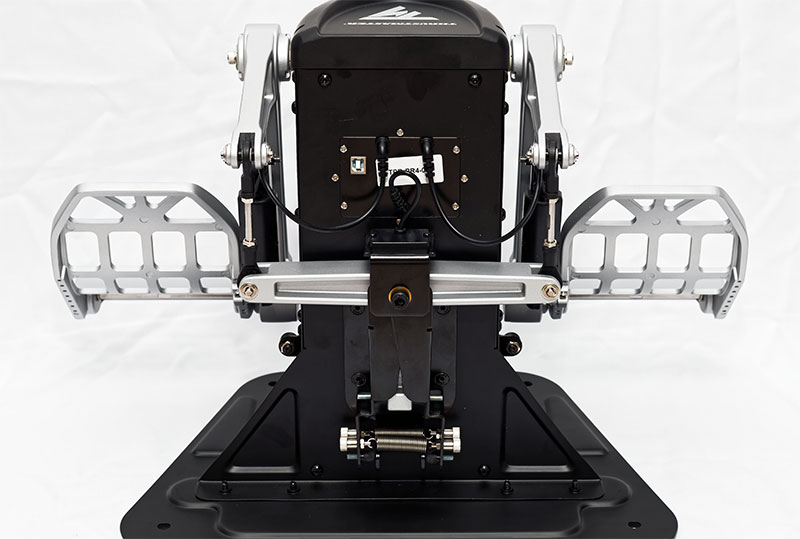 Example of the Thrustmaster rudder pedals.