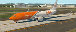 TNT Cargo Boeing 737 on taxiway in X-Plane 11.