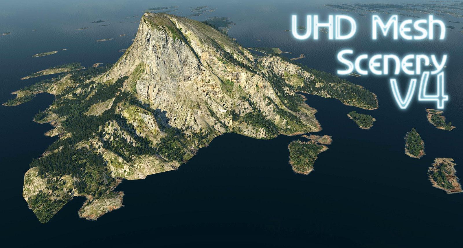 UHD Mesh Scenery v4 Downloads for X-Plane 11