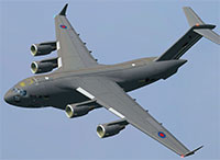 The UKMIL C-17 in flight.