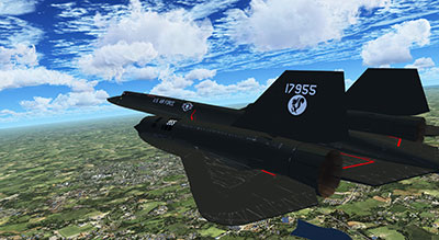 USAF SR-71 Blackbird in flight.