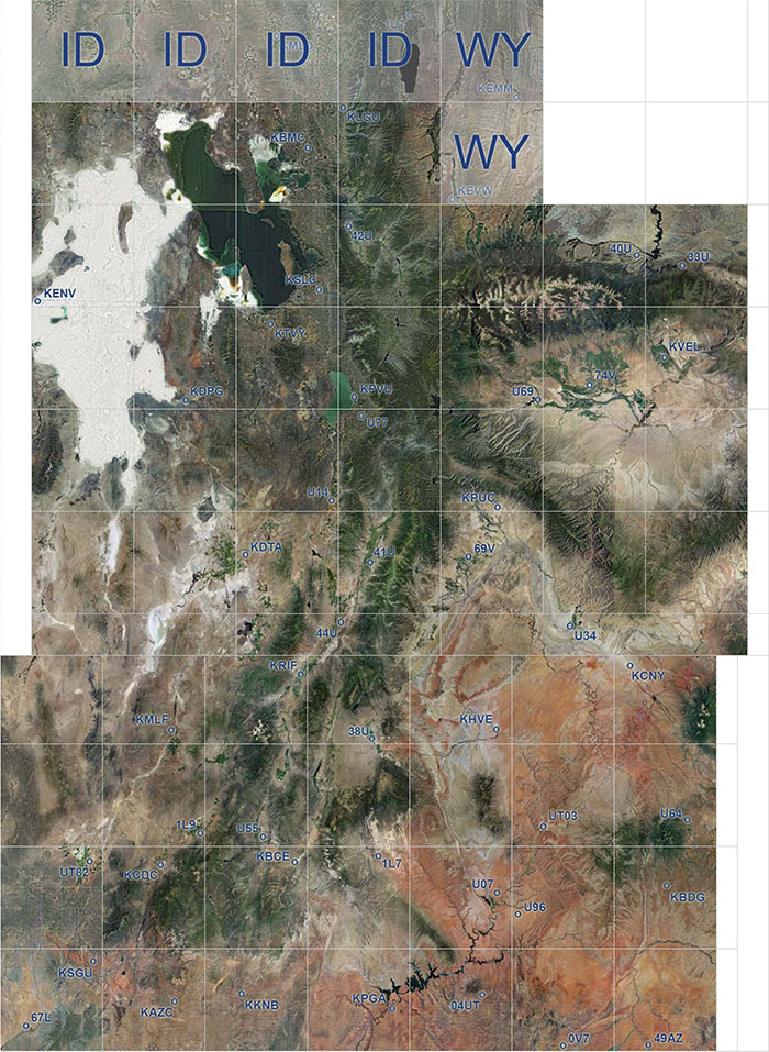 Utah photoreal coverage map.