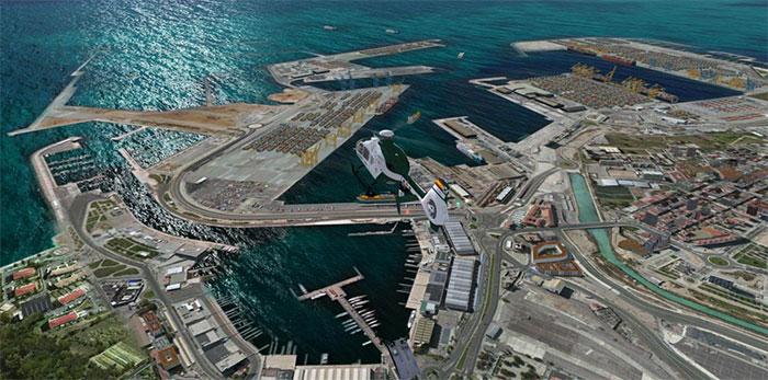Docks and coastline