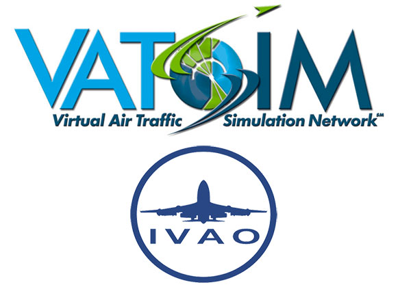 The official VATSIM and IVAO logos.