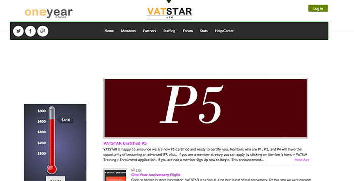 Vatstar website screenshot