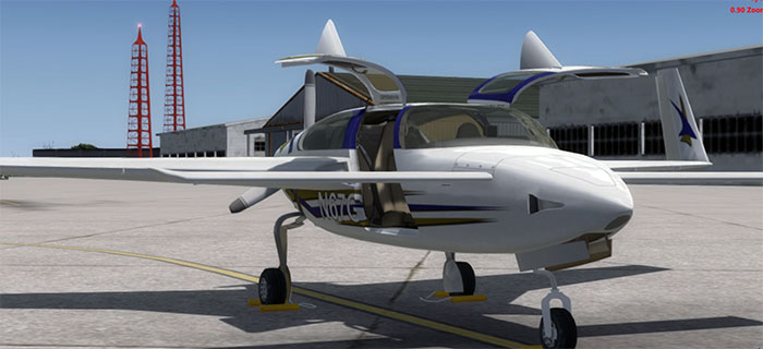 Screenshot of the aircraft