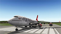 Virgin Atlantic 747 in X-Plane 10