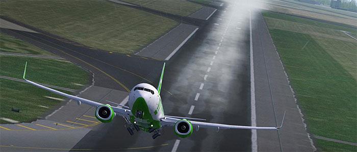 Water on runway effect