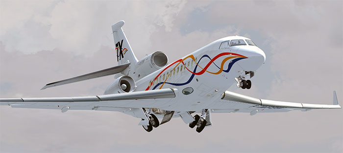 Wilco's Falcon 7x in default livery.