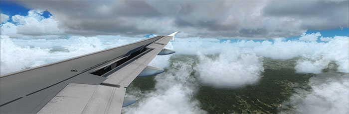 Wing-view over Germany