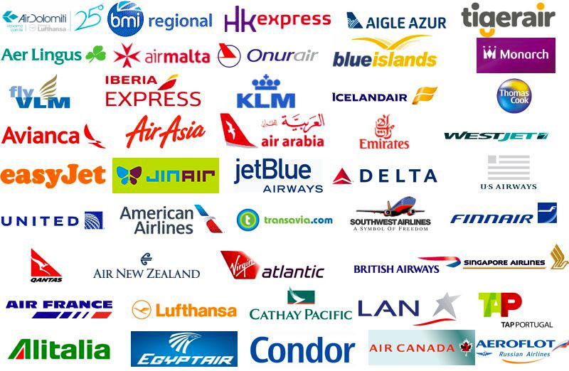 World of AI airline traffic logos.