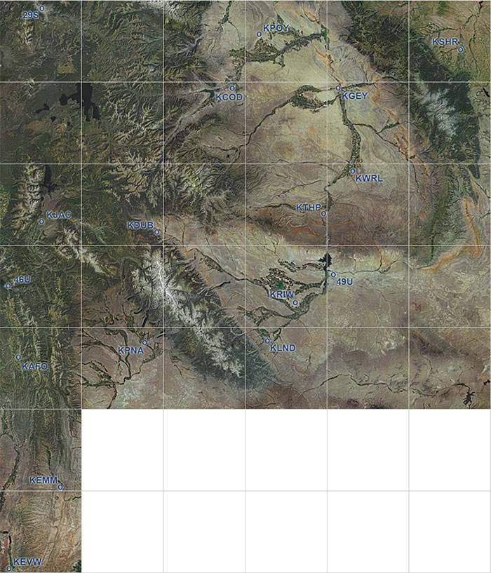 Wyoming photoreal coverage map.
