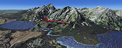 Screenshot showing the scenery in use in P3Dv4